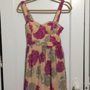 FOREVER21 EXCLUSIVE Rose Floral High Low Dress 🌹